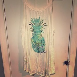 Good vibes pineapple tank